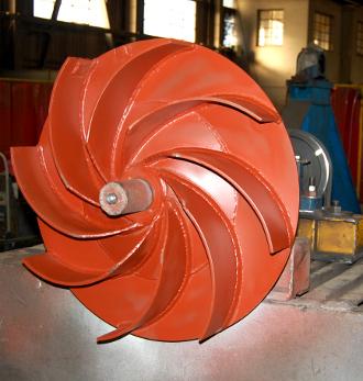 turbine après rénovation et équilibrage